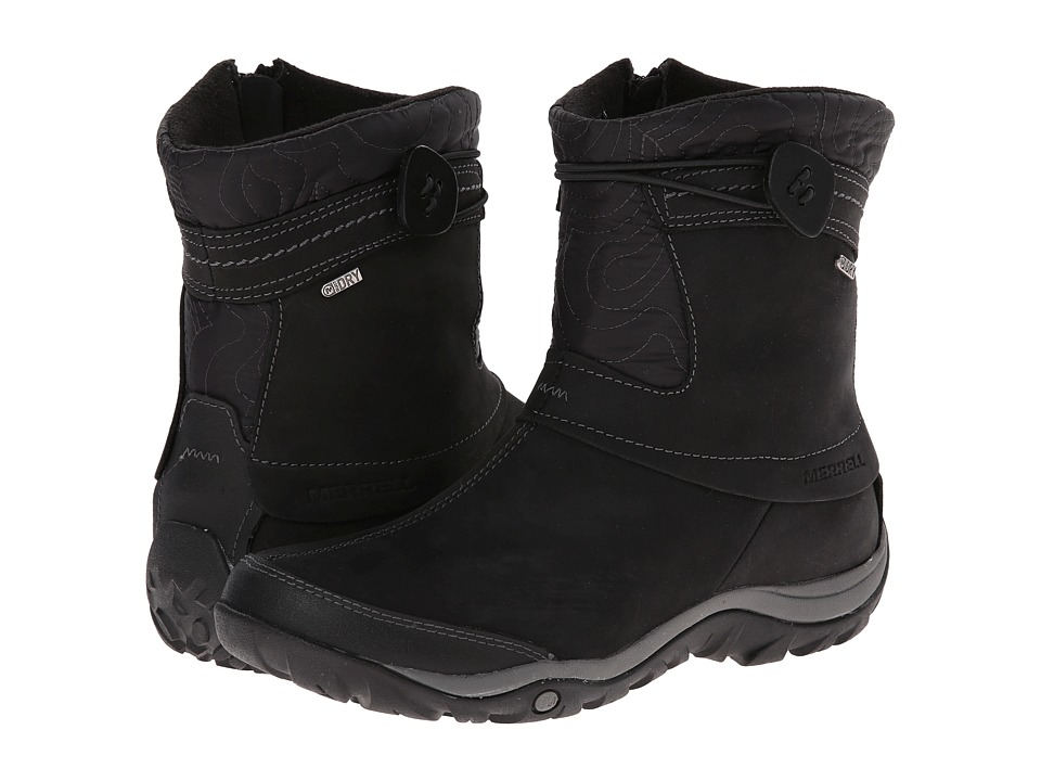 Merrell - Dewbrook Zip Waterproof (Black) Women's Zip Boots
