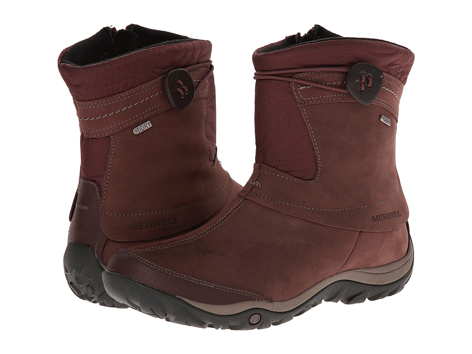 Merrell - Dewbrook Zip Waterproof (Bourbon) Women