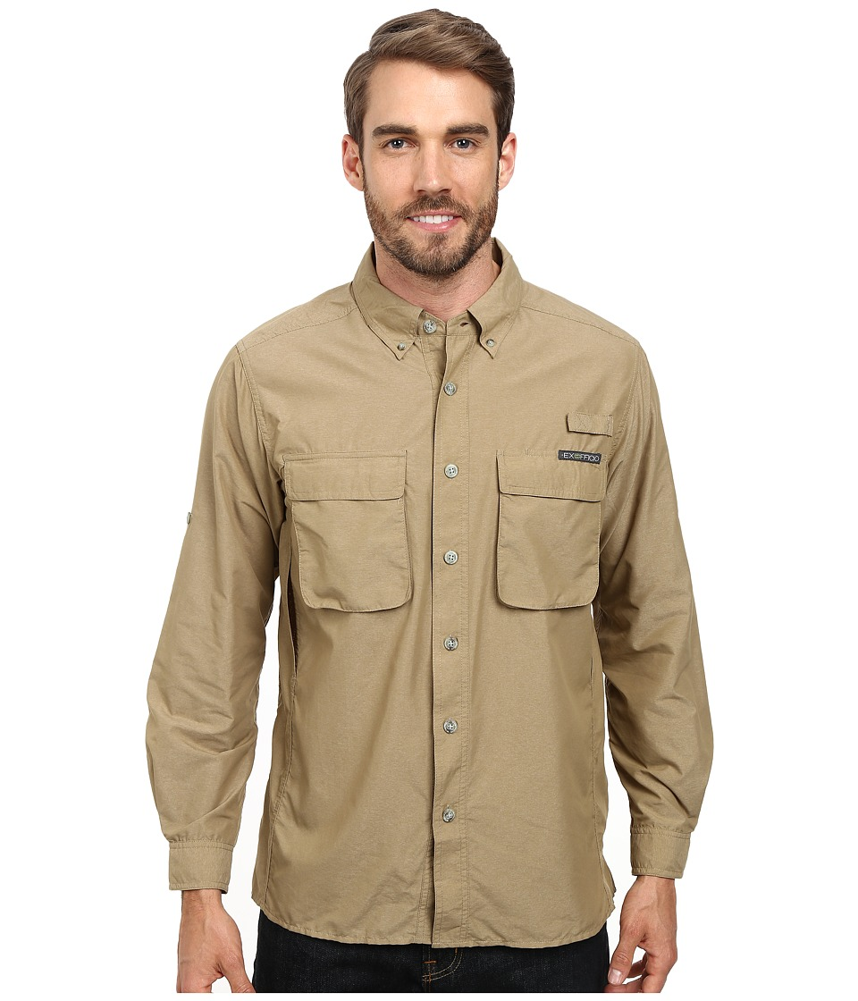 ExOfficio - Air Strip Long Sleeve Top (Walnut) Men's Long Sleeve Button Up