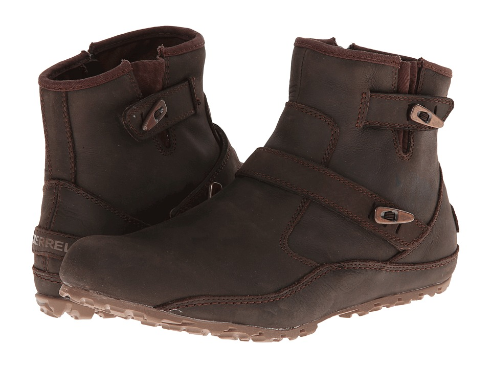 Merrell - Haven Duo Waterproof (Brown) Women's Zip Boots