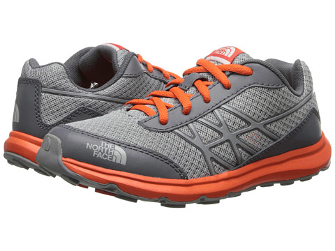 The North Face Kids - Ultra (Little Kid/Big Kid) (Griffin Grey/Red Orange) Boy's Shoes