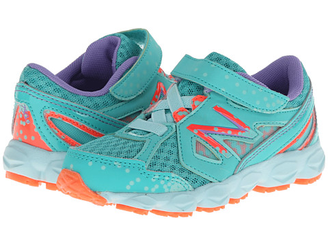New Balance Kids - 750v3 (Infant/Toddler) (Teal/Coral) Girls Shoes