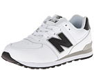 New Balance Kids KL574 (Big Kid) (White/Black)