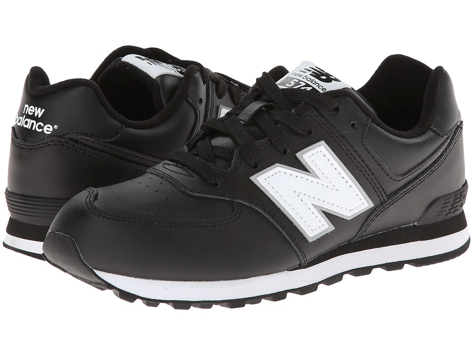 New Balance Kids - KL574 (Big Kid) (Black) Boys Shoes
