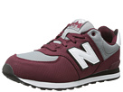 New Balance Kids KL574 (Big Kid) (Burgundy)