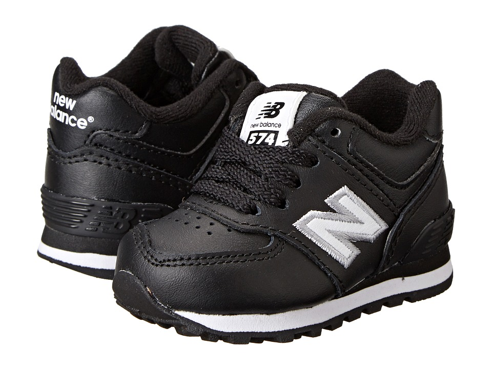 New Balance Kids - 574 (Infant/Toddler) (Black) Boys Shoes