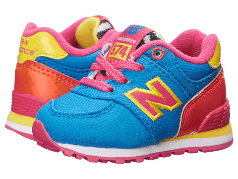New Balance Kids - 574 (Infant/Toddler) (Blue/Orange) Boys Shoes