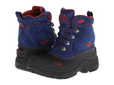 The North Face Kids - Chilkat Lace (Toddler/Little Kid/Big Kid) (Midline Blue/Burnt Henna Brown) Boys Shoes