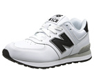 New Balance Kids KL574 (Little Kid) (White/Black '14)