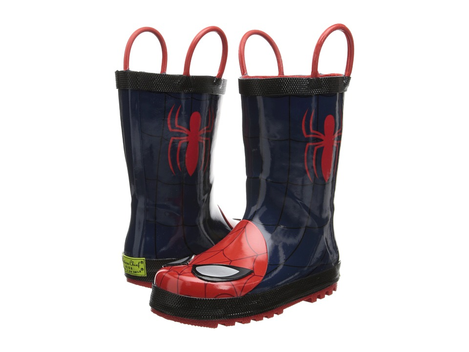 Western Chief Kids - The Ultimate Spider-Man Rain Boot (Toddler/Little Kid/Big Kid) (Navy) Boys Shoes