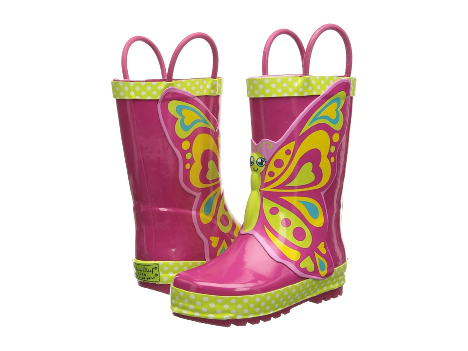Western Chief Kids - Butterfly Star Rain Boot (Toddler/Little Kid/Big Kid) (Pink) Girls Shoes