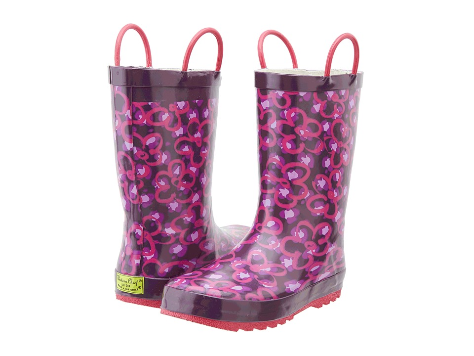 Western Chief Kids - Diva Leopard Rain Boot (Toddler/Little Kid/Big Kid) (Purple) Girls Shoes