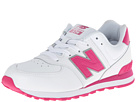 New Balance Kids 574 (Big Kid) (White/Pink)