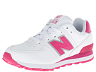 New Balance Kids 574 (Little Kid) (White/Pink)