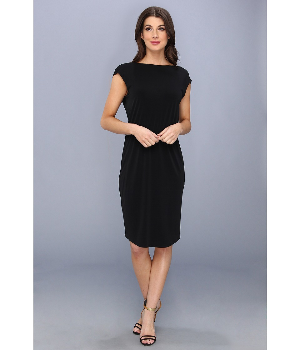 BCBGeneration - Back Drape Dress YDM65A24 (Black) Women
