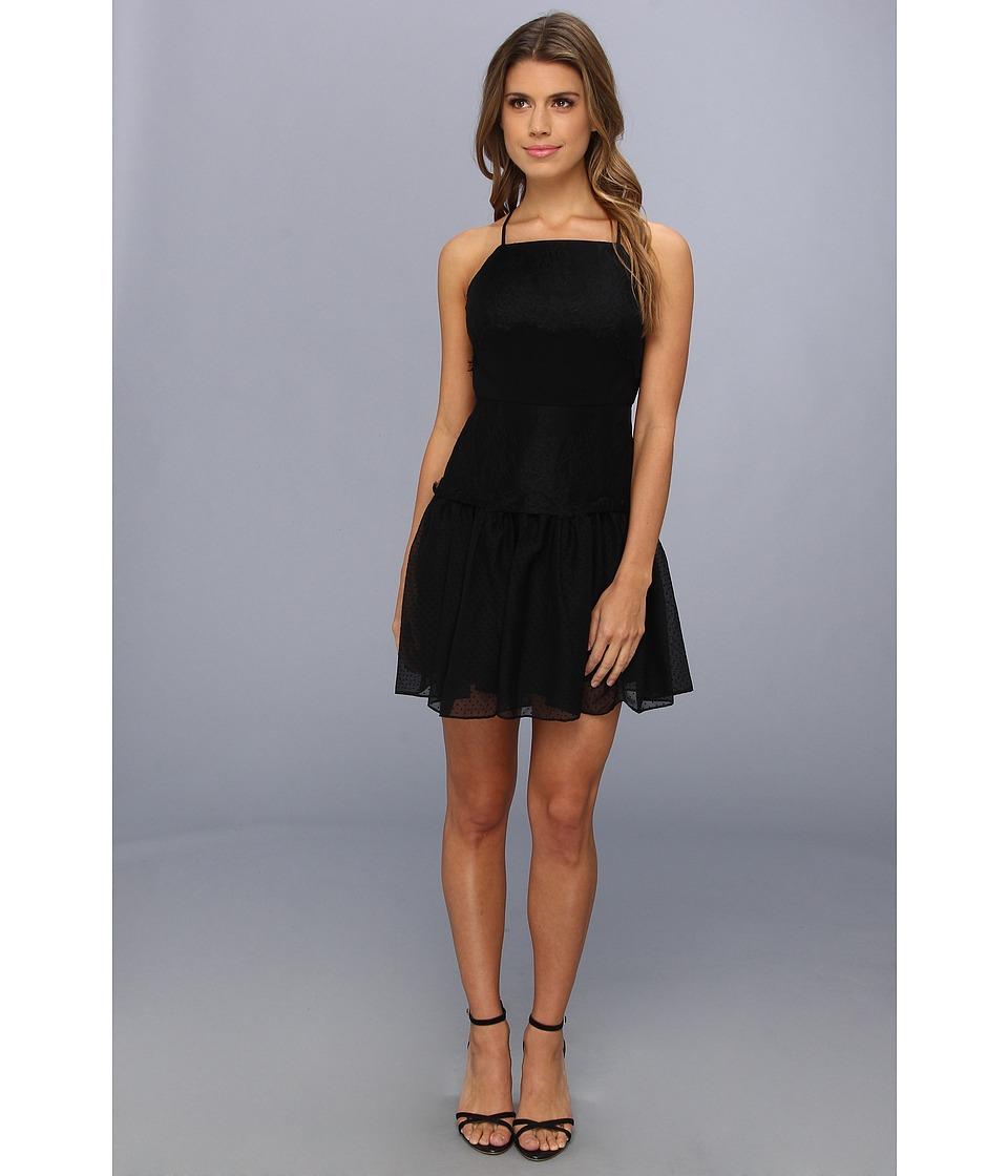 BCBGeneration - Lace Applique Dress BZL61A97 (Black) Women