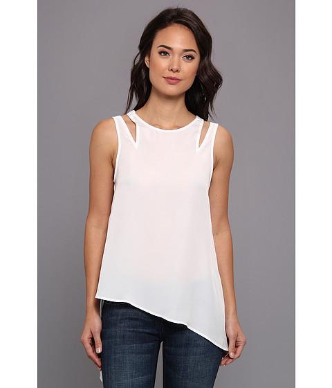 BCBGeneration - Asymmetrical Pleat Tunic KUD1S127 (White) Women's Blouse