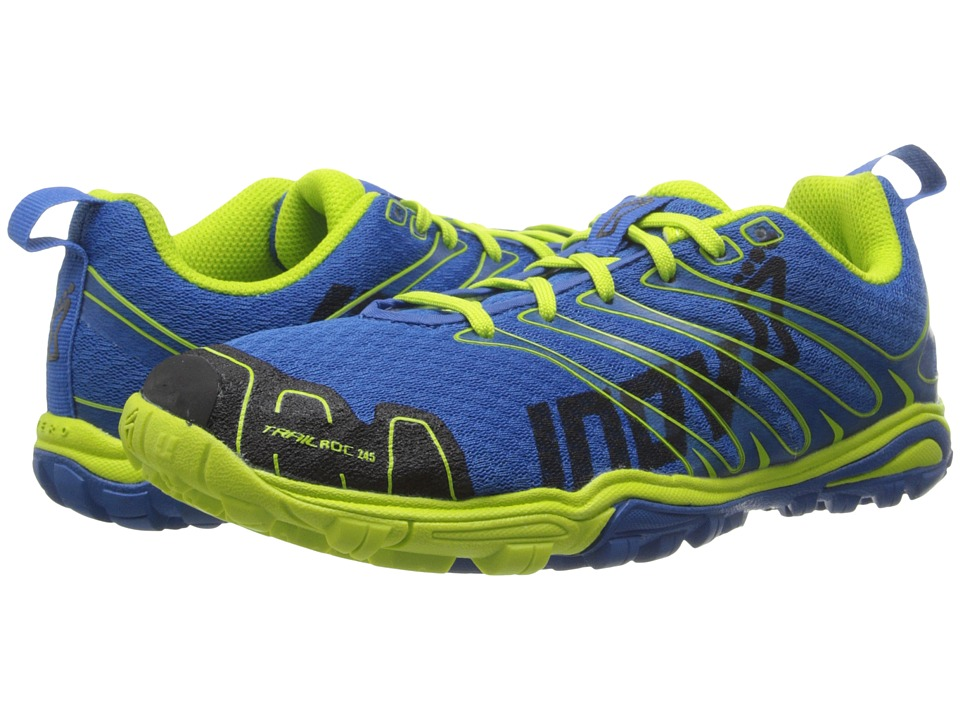inov-8 - Trailroc 245 (Little Kid/Big Kid) (Blue/Lime) Running Shoes
