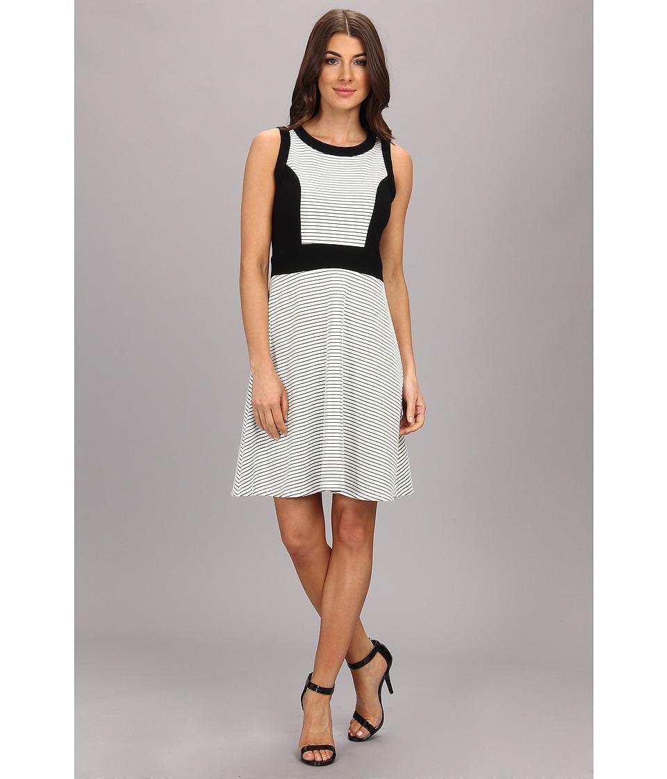 Karen Kane - Contrast Panel Dress (Black/White) Women