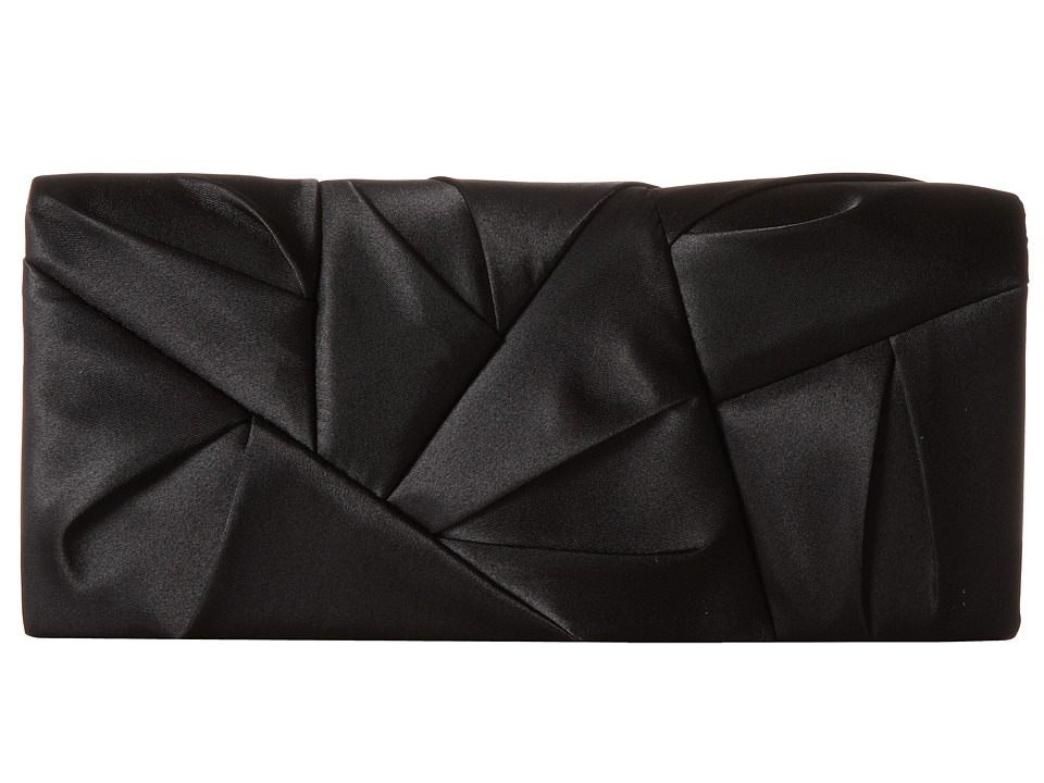 Jessica McClintock - Orgami Clutch (Black) Clutch Handbags