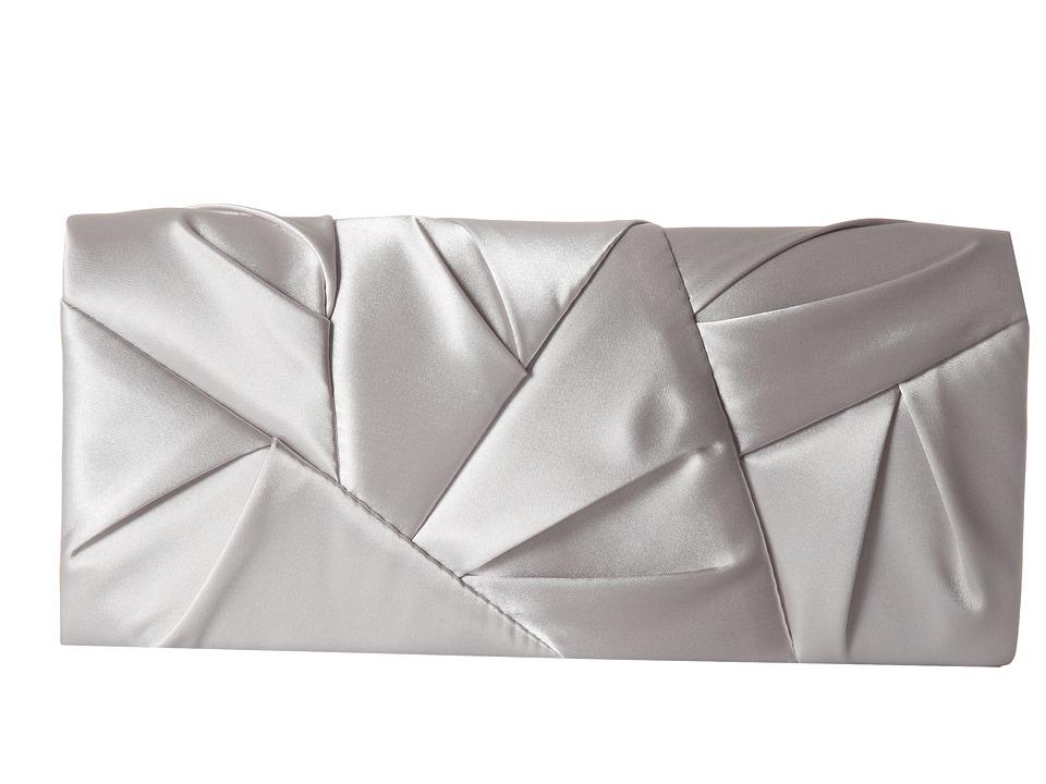 Jessica McClintock - Orgami Clutch (Silver) Clutch Handbags