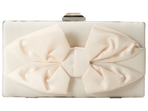 Jessica McClintock - Boxy Bow Minaudiere (Ivory) Handbags