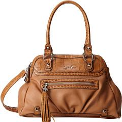 Jessica Simpson Kelsey Satchel (Suntan) Satchel Handbags