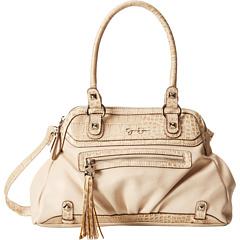 Jessica Simpson Kelsey Satchel (Cream) Satchel Handbags