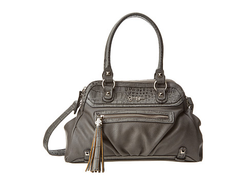Jessica Simpson Kelsey Satchel (Grey) Satchel Handbags