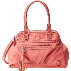 Jessica Simpson Kelsey Satchel (Coral) Satchel Handbags