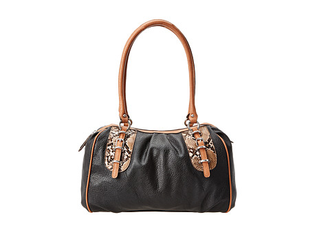 Jessica Simpson - Amber Satchel (Black) Satchel Handbags