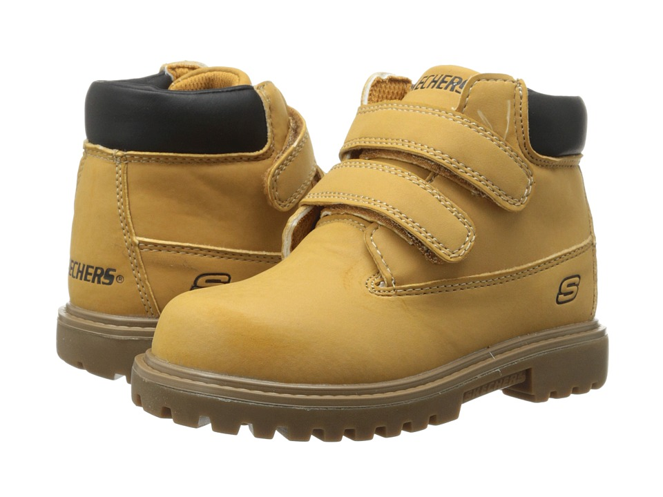 SKECHERS KIDS - Mecca - Sawmill 93159N (Toddler) (Wheat/Natural) Boys Shoes