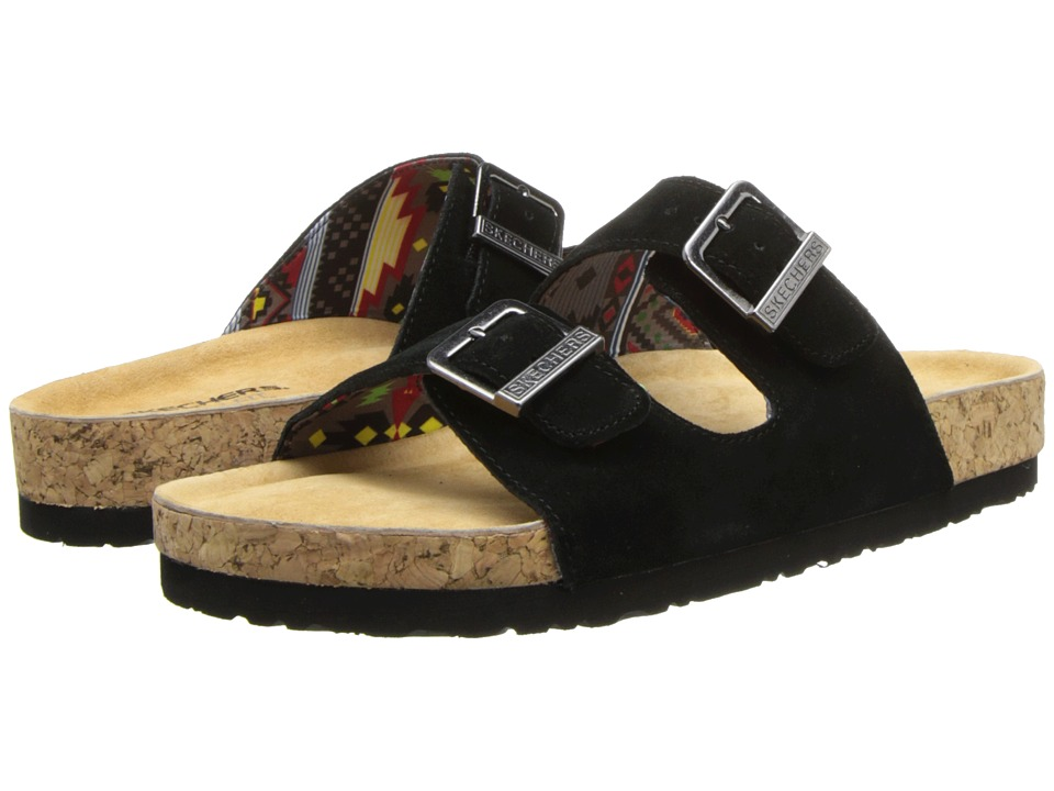 SKECHERS - Buckle Sandal (Black) Women's Sandals