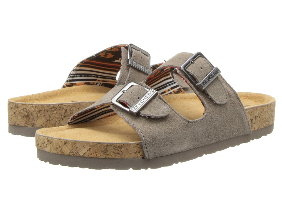 SKECHERS - Buckle Sandal (Taupe) Women's Sandals