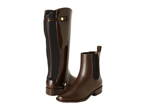 Melissa Shoes - Riding (Brown Flocked) Women's Waterproof Boots