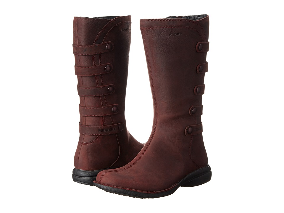 Merrell - Captiva Launch 2 Waterproof (Burgundy) Women's Zip Boots