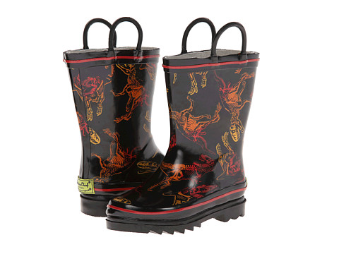 Western Chief Kids - Cool Fossil Rain Boot (Toddler/Little Kid) (Black) Boys Shoes
