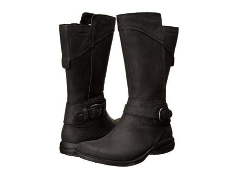 Merrell - Captiva Buckle-Down Waterproof (Black) Women's Zip Boots