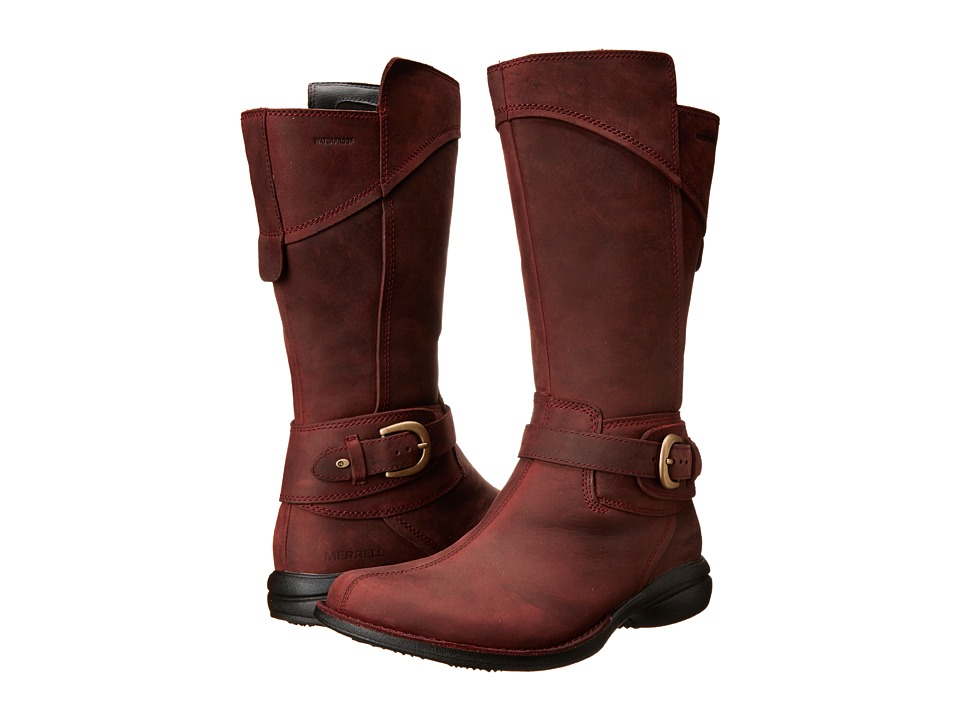 Merrell - Captiva Buckle-Down Waterproof (Burgundy) Women