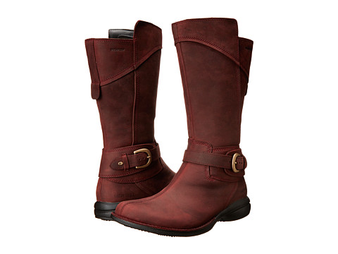 Merrell - Captiva Buckle-Down Waterproof (Burgundy) Women's Zip Boots