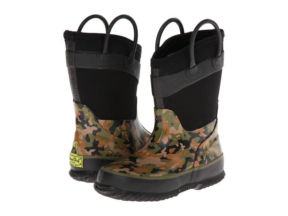 Western Chief Kids - Wilderness Camo (Toddler/Little Kid) (Olive Green) Boys Shoes