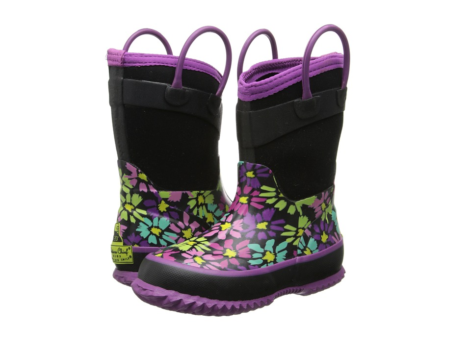 Western Chief - Daisy Shower (Toddler/Little Kid) (Black) Women's Rain Boots