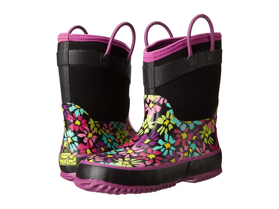 Western Chief Kids - Daisy Shower (Little Kid/Big Kid) (Black) Girls Shoes