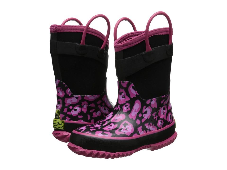 Western Chief Kids - New Leopard Neoprene (Toddler/Little Kid) (Black) Girls Shoes