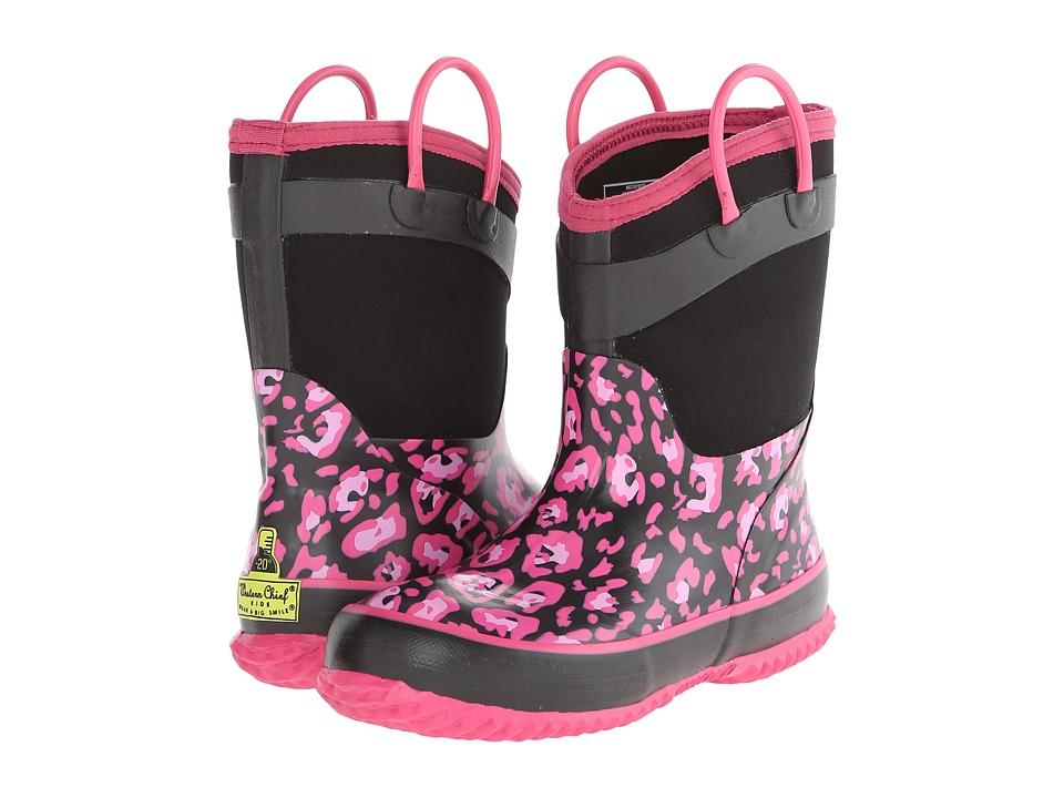 Western Chief Kids - New Leopard Neoprene (Little Kid/Big Kid) (Black) Girls Shoes