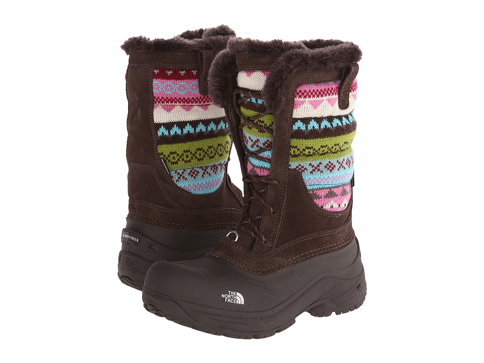 The North Face Kids - Shellista Lace Novelty (Toddler/Little Kid/Big Kid) (Demitasse Brown/Pink Nordic Knit) Girls Shoes
