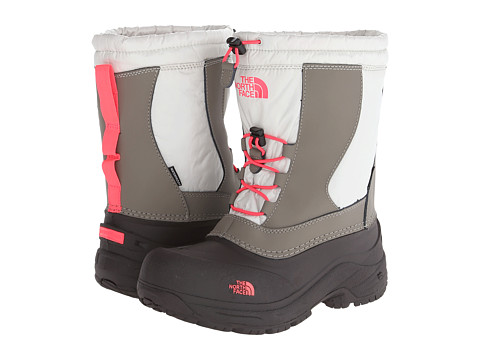 The North Face Kids - Alpenglow II (Toddler/Little Kid/Big Kid) (Shiny Moonlight Ivory/Rocket Red) Girls Shoes