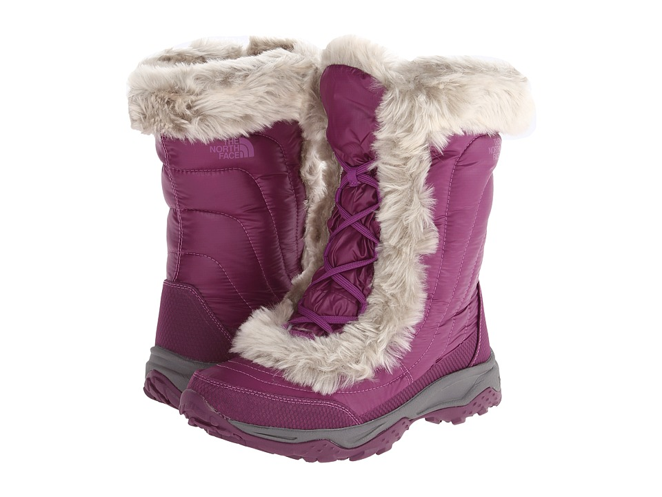 The North Face Kids - Nuptse Faux Fur II (Toddler/Little Kid/Big Kid) (Shiny Dark Purple/Magic Magenta) Girls Shoes