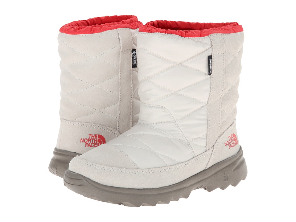The North Face Kids - Winter Camp Water Proof (Little Kid/Big Kid) (Shiny Moonlight Ivory/Poppy Red) Girls Shoes