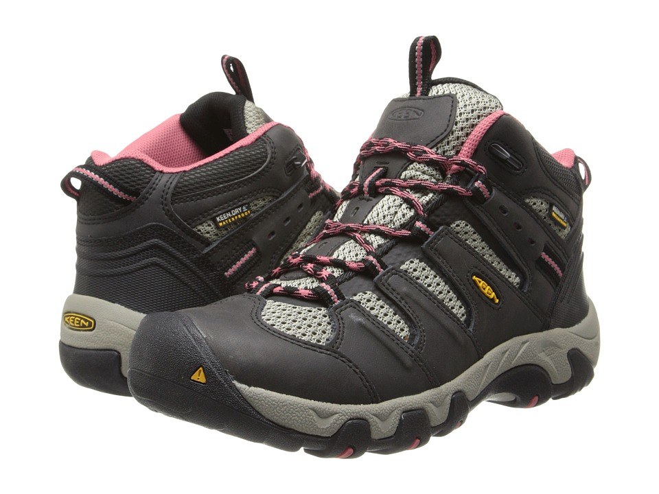 Keen - Koven Mid WP (Raven/Slate Rose) Women's Hiking Boots